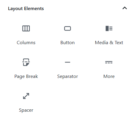 Layout Elements